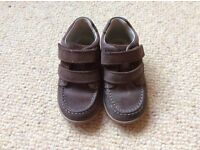 Boys Clarks shoes size 7F