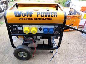 Wolf Power WP7500E Gasoline generator set