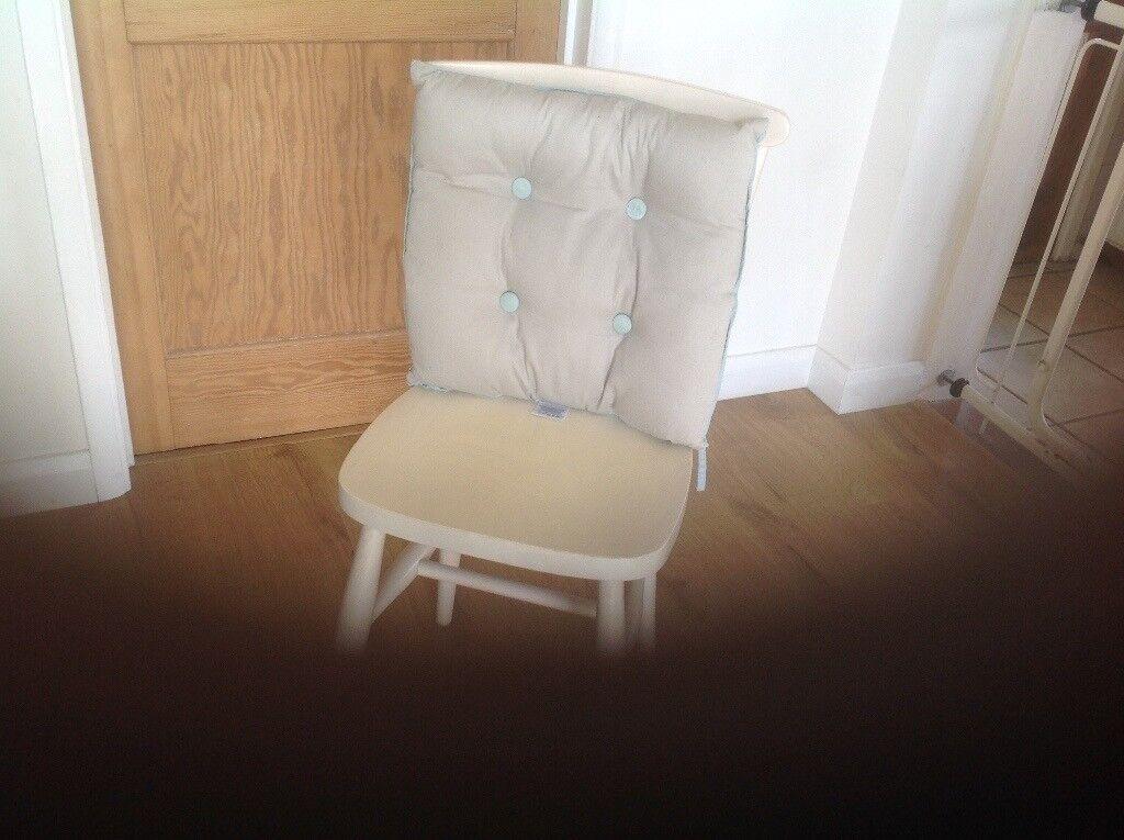 2 Matching Off White Kitchen Chairs