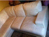 leather corner sofa delivery available (real leather )