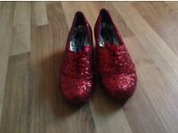 irregular choice women's ruby red shoes