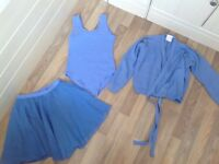 Ballet Practice Wear Size 2a leotard, 32 Wrap and wrap chiffon skirt in immaculate condition