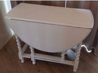 Shabby Chic White Drop Leaf Dining Table