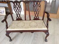 Mahogany Reproduction Divan Chair. Excellent Condition.