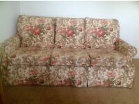 """Sofa bed - large 3 seater sofa bed / double bed (4'6"""")"""