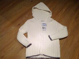 Jojo mama Bebe knit cardigan size 3-4 new