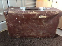 Revelation Vintage Brown Suitcase (Prop, Railway, Antique, War)