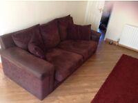 Big deep chocolate sofa
