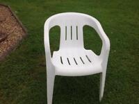 White garden chairs