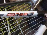 Now sold ! KARAKAL S-100 fast fibre, white, grey shaft, black hand grip
