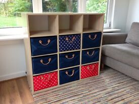 Lazzari shelves / storage unit, with drawers, playroom / toys / crafts / linens
