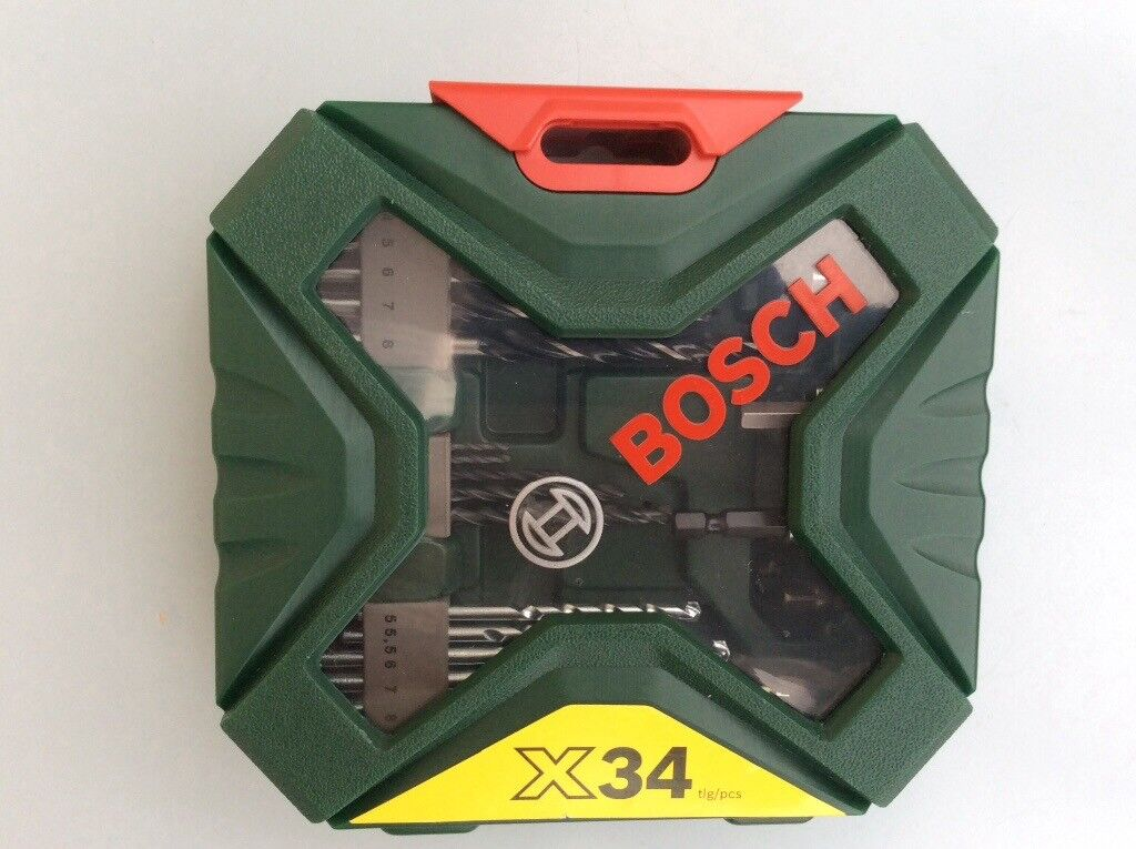 Boch 34 piece drill bits set new