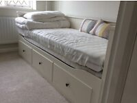 Ikea White Hemnes Day-bed with 3 drawers