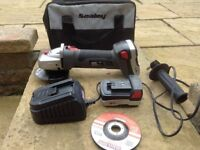 Sealy cordless grinder ,,charger, disc's, handle and carry bag.lithium batteries never really used