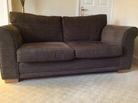 Next Brown sofa and Arm chair Black Friday reduced price