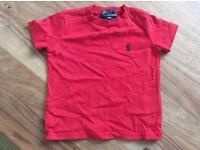 Original Ralph Lauren red T Shirt age 9 mth