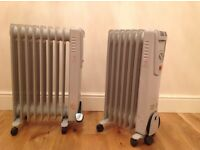 Oil filled radiators