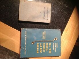 Ford anglia book and automobiles book