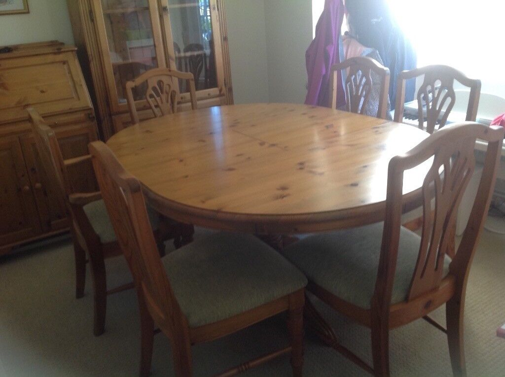Description FREE A Well Used Ducal Dining Table With 6 Chairs