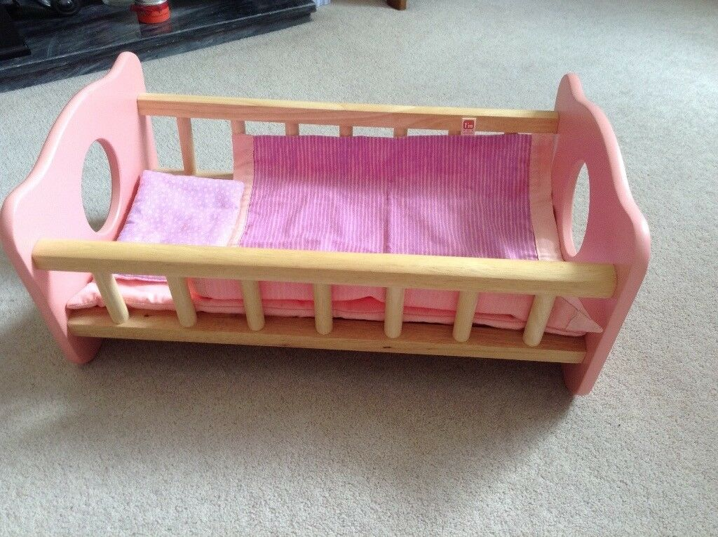I'M TOY - WOODEN TOY DOLL COT