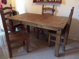 Solid Oak Kitcken table