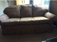 Large multiyork 3 seater and chair