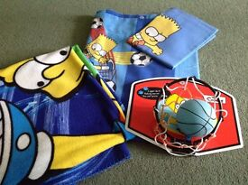BartSimpsonduvet cover set,throw,minibasketball set