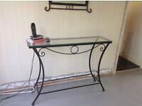 Wrought Iron Table & Mirror