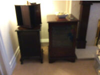 SONY HI-FI MUSIC CENTRE AND 2 SPEAKERS + CD STORAGE