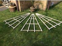 4 FOR £10 GARDEN FAN TRELLIS