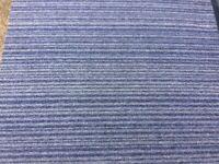 Carpet Tiles Grey Blue Heavy Duty Used