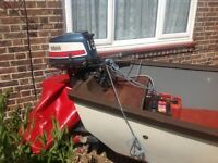 Fishing and leasure boat 17ft on trailer with engine