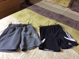 Addidas shorts age 11-12