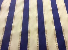 curtain fabric Blue/white/silver