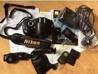 NIKON D60 digital camera body with remote & accessories