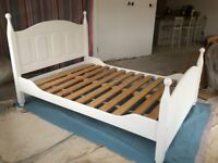 Scandi style white painted bed frame
