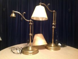 Pair of adjustable French table lamps