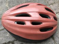 Lady cyclist helmet