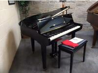 Stunning gloss black Samick digital baby grand piano & stool - CAN DELIVER