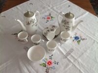 Vintage Royal Adderley Arcadia bone china coffee set 15 pieces
