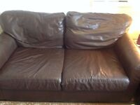 free leather sofa 2+1