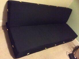 """John Lewis """"click clack"""" sofa bed"""