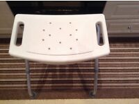 Shower Seat - Adjustable Height & Foldable