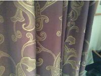 Pair of Full length curtains and half length curtains