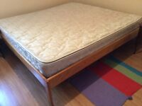 King size bed and mattress, excellent condition.