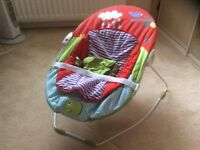 Musical,vibrating baby chair