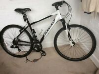"""Men's 19"""" Carrera Hybrid Bike seldom used, with all accessories including Immobitag, D-Lock & pump"""
