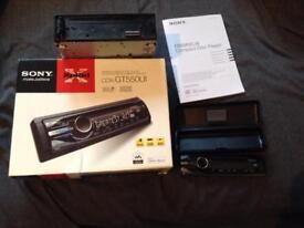 Sony car stereo plus Clio stereo.