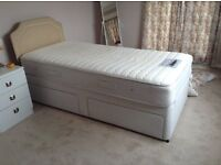 Single bed with Sleepeezee memory foam mattress
