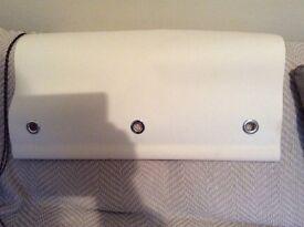 Full length cream door blind